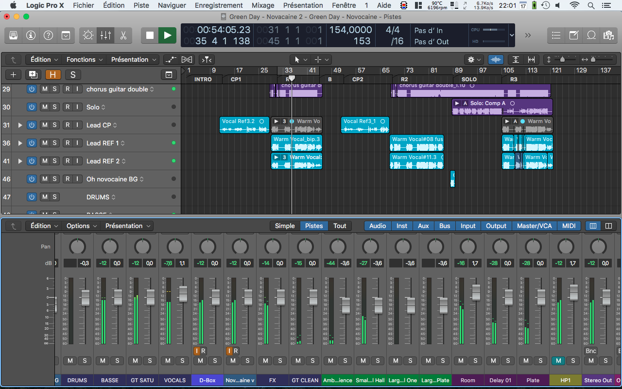 Session de Mix dans Logic Pro X